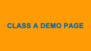 Class A Animation Demo